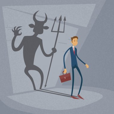 Businessman With Demon Shadow