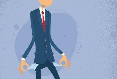 Businessman Show Empty Pocket