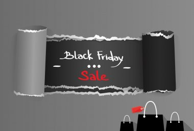 Black Friday Torn  Paper