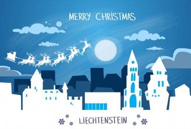 Santa Claus Sleigh  over Liechtenstein