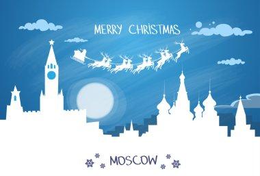 Santa Claus Sleigh  over Moscow City