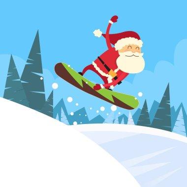 Santa Clause at Snowboarder