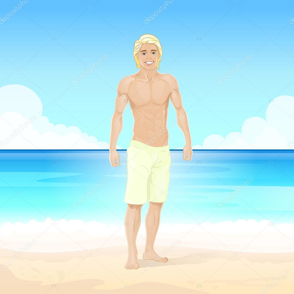 Man at Summer Beach