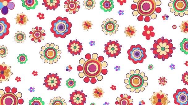 Světlé květy opakování animované pozadí