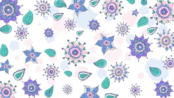 Světlé květy opakování animované pozadí.