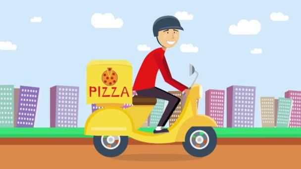 Koncept pizza nebo jídlo dodání