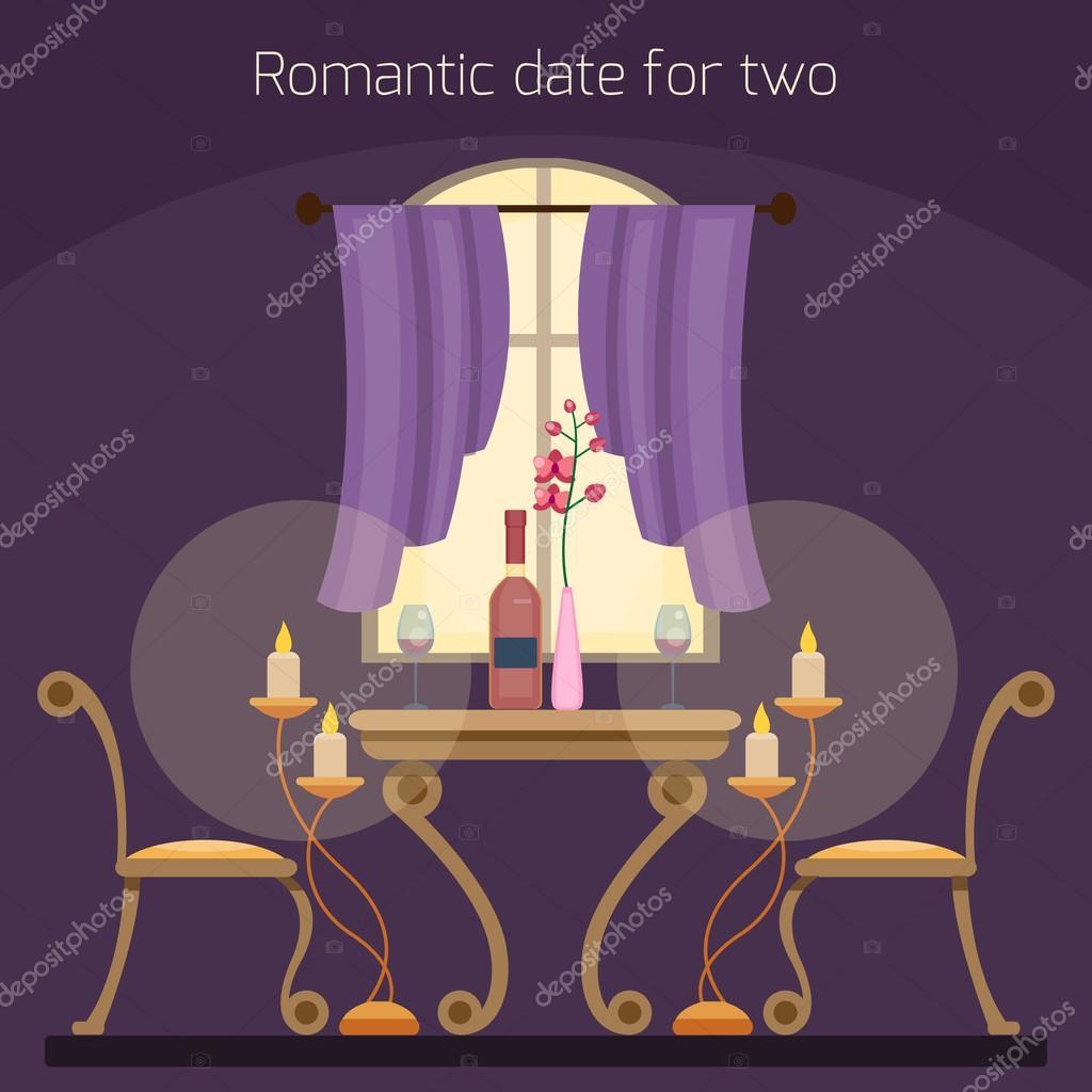 Table de restaurant pour les deux amoureux image - Table amoureux ...