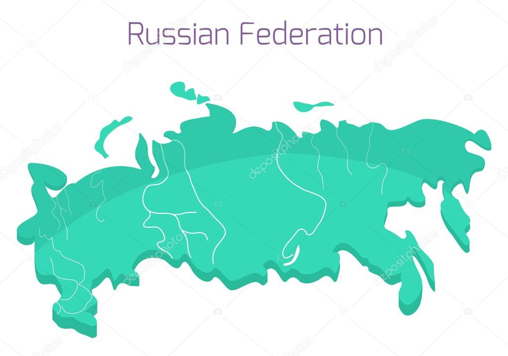 Russian map. Vector illustration of Russia in flat style ... on flat united states map, flat eurasia map, flat great britain map, flat country map, flat europe map, flat us map, flat africa map, flat world maps,