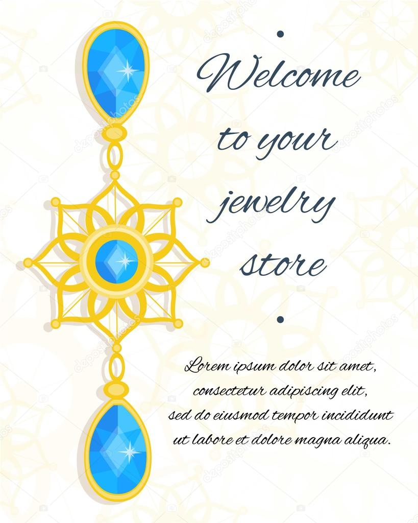 Vector Jewelry Invitation Card Or Voucher Background