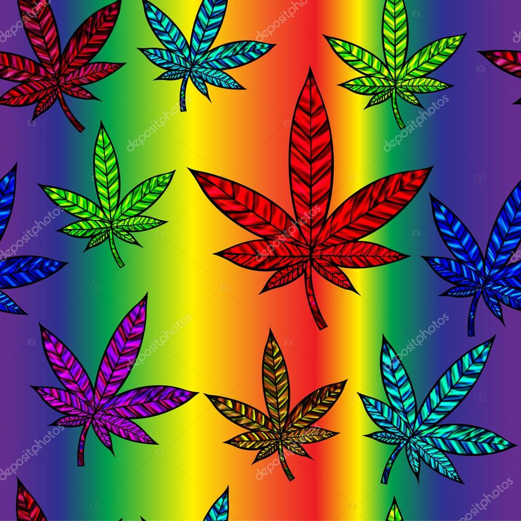Seamless Cannabis Leaf