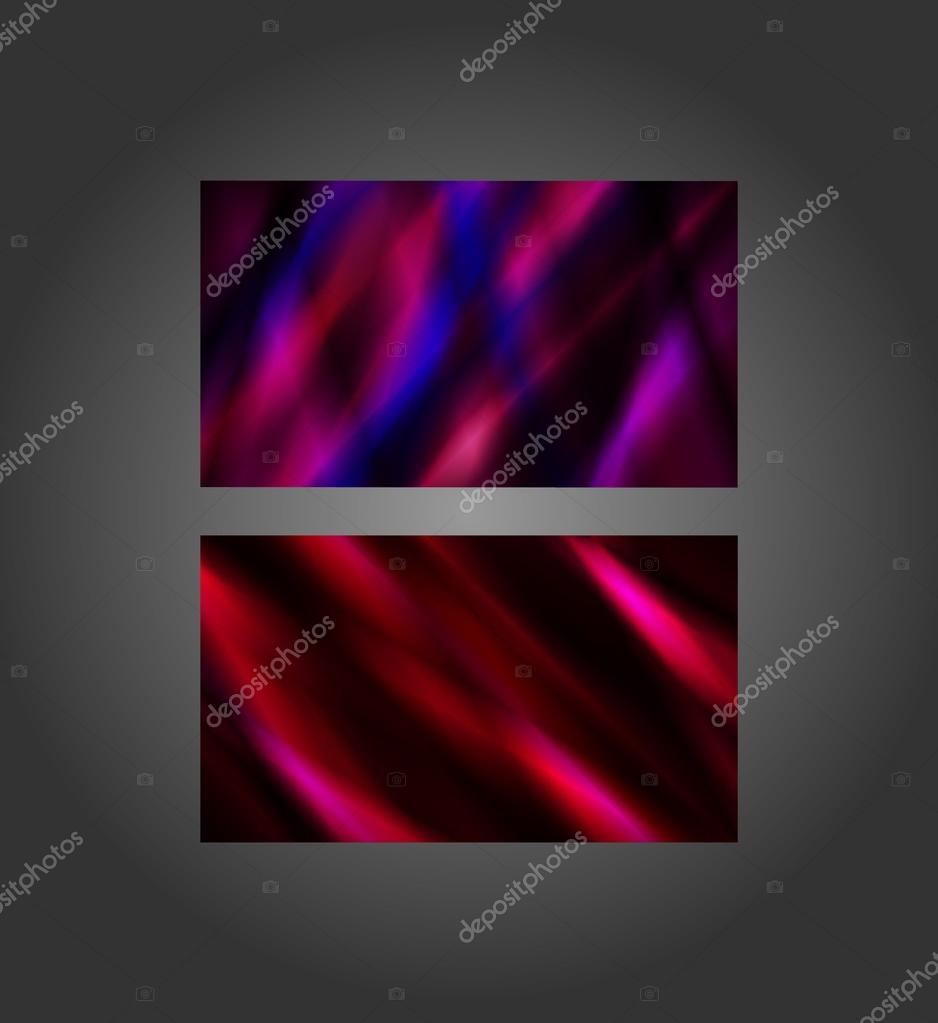 Abstract Stained Glass Business Cards Stock Vector