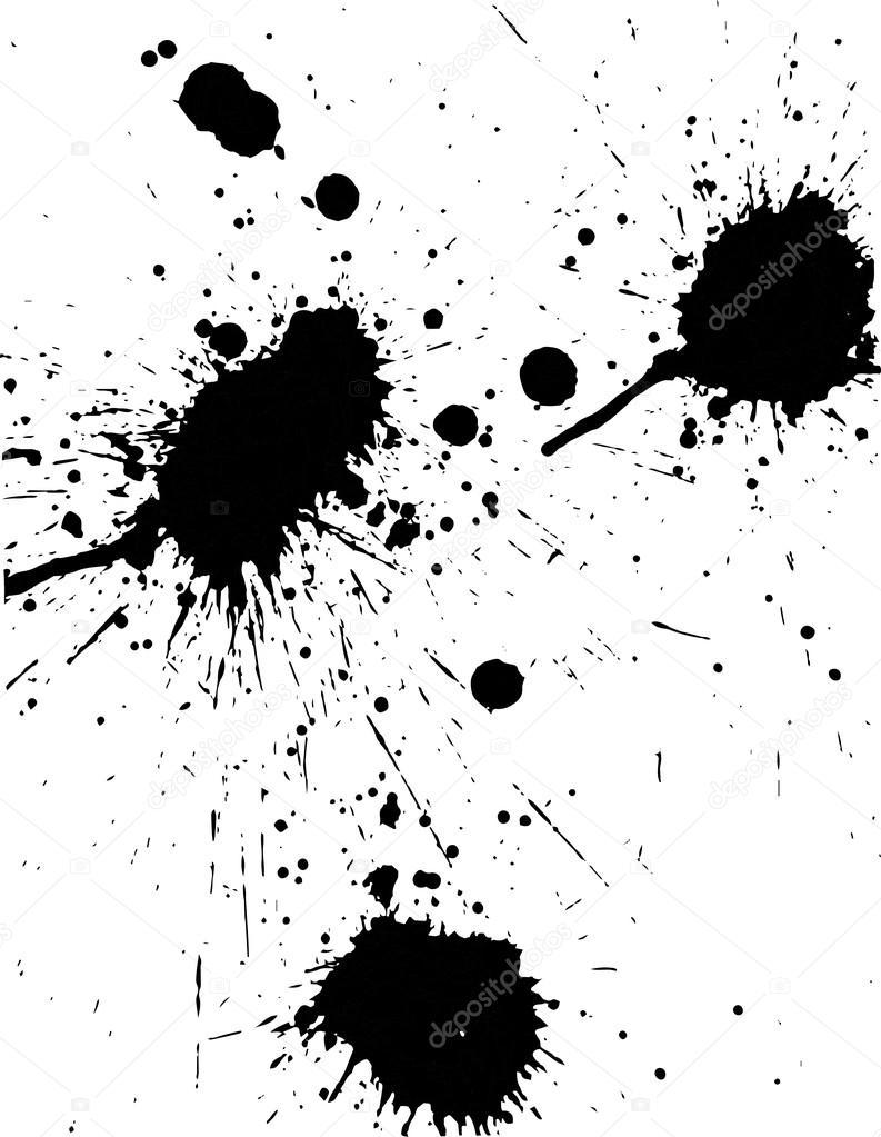 black splatter paint stock vector suwanneeredhead 119113584