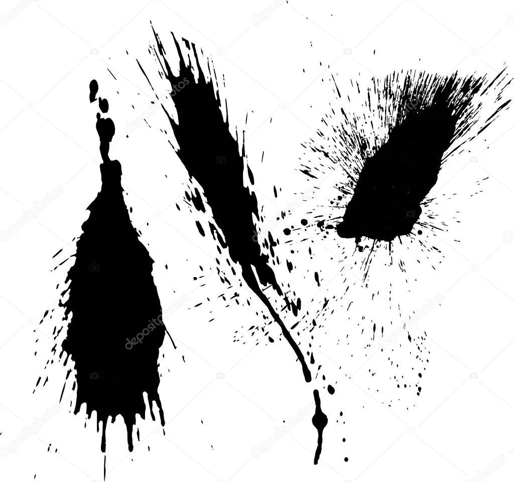black splatter paint stock vector suwanneeredhead 119113598