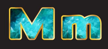 Mm with Gold and Teal