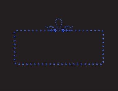 Sapphire Creative Deco Frame on Black