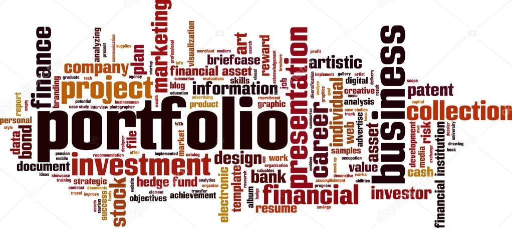 portfolio word cloud stock vector boris15 111968840