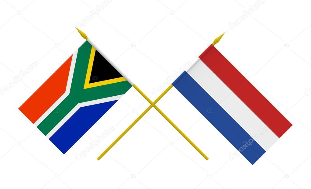 vlaggen nederland en zuid afrika stockfoto 169 boris15
