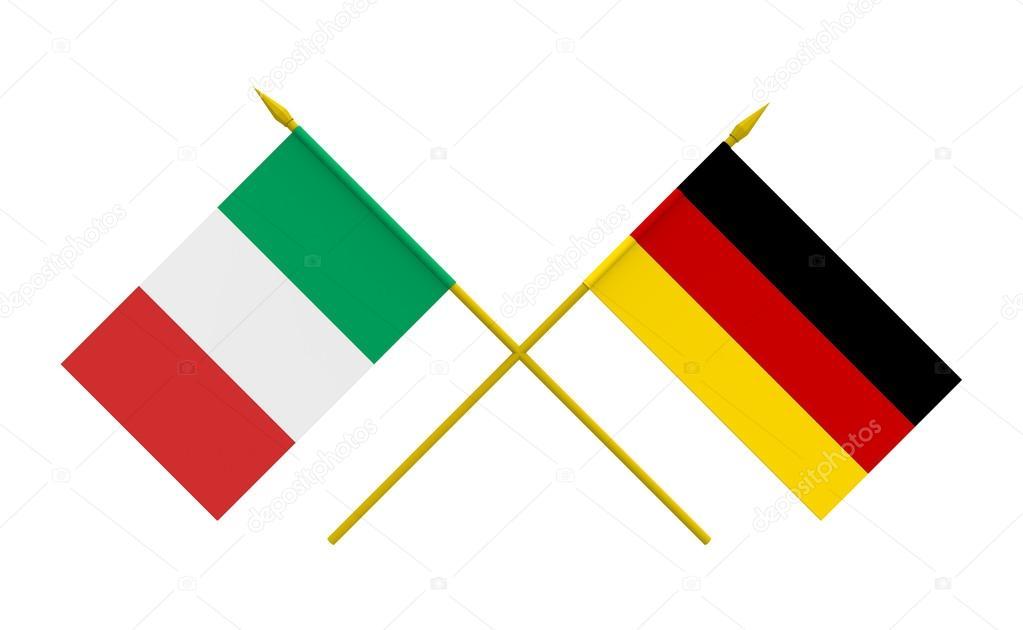 Imágenes: La Bandera De Italia Y Alemania