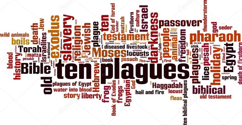 Ten Plagues Of Egypt Word Cloud — Stock Vector © Boris15