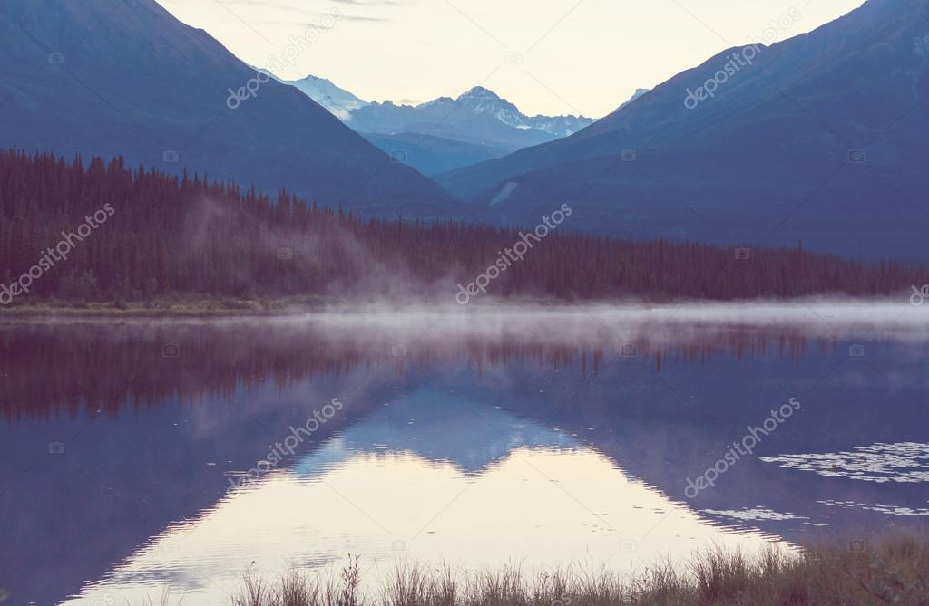 Lake in Alaskan tundra