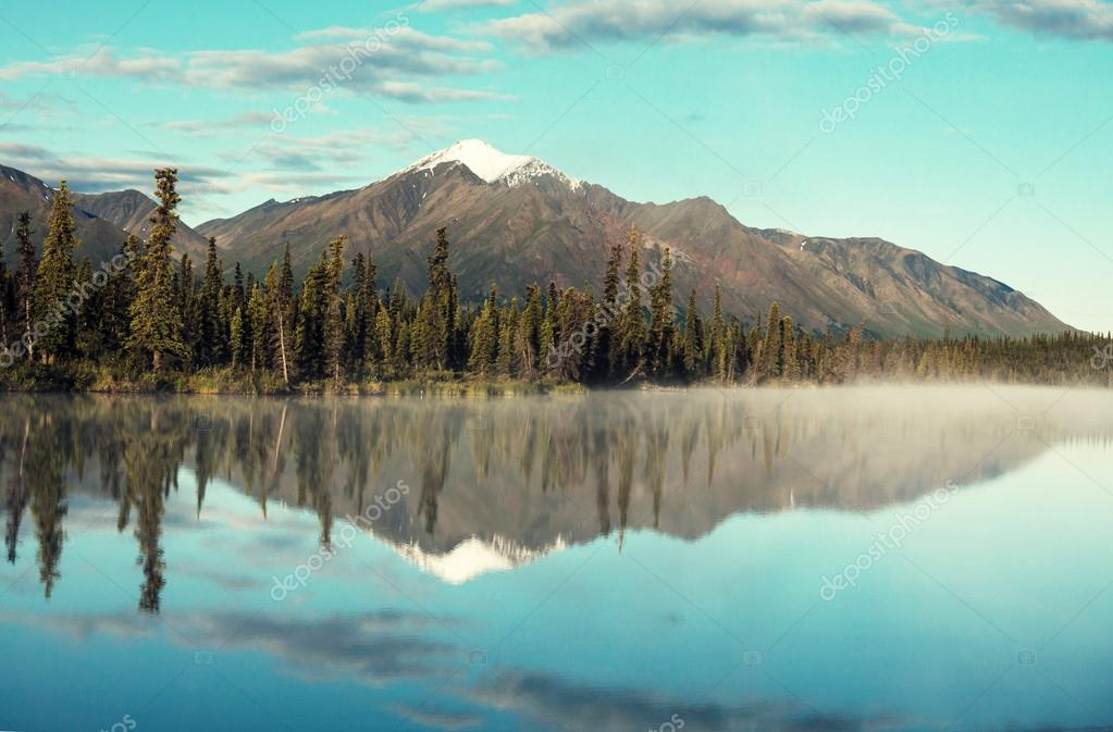 Mountain Lake on Alaska