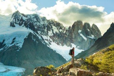 Man Hiker in Patagonia
