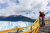 Man at Glacier in Argentina