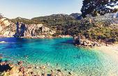 Korfu-Insellandschaften in Griechenland.