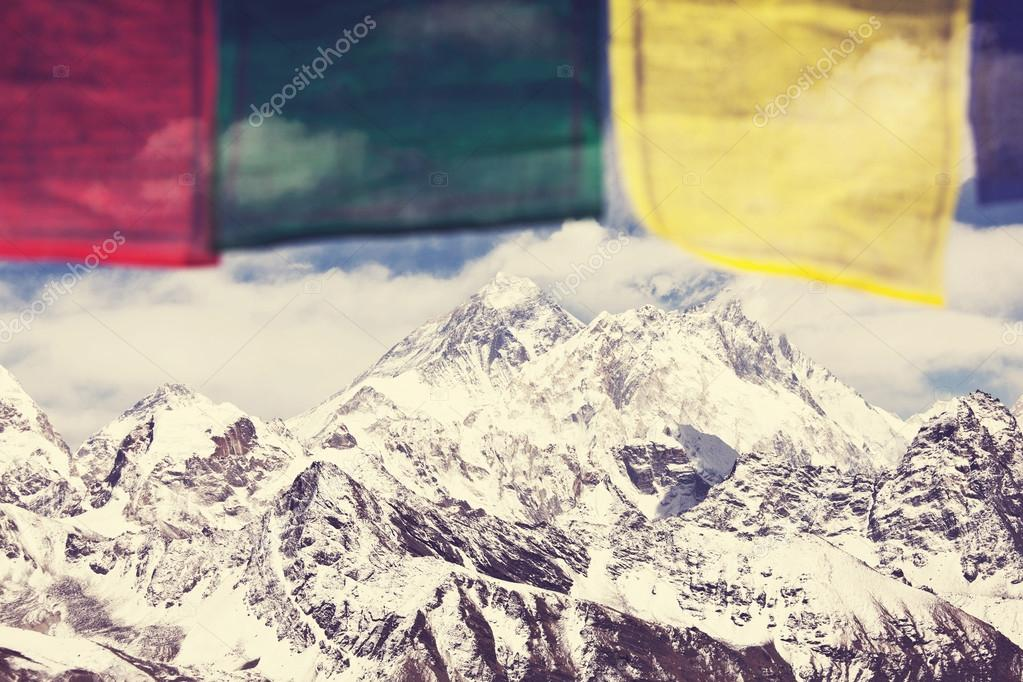 Everest flags background