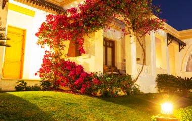door of house with garden