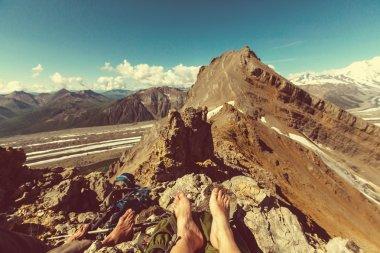 legs over Ascent to Donoho peak
