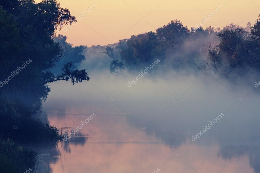 river fog in summer season