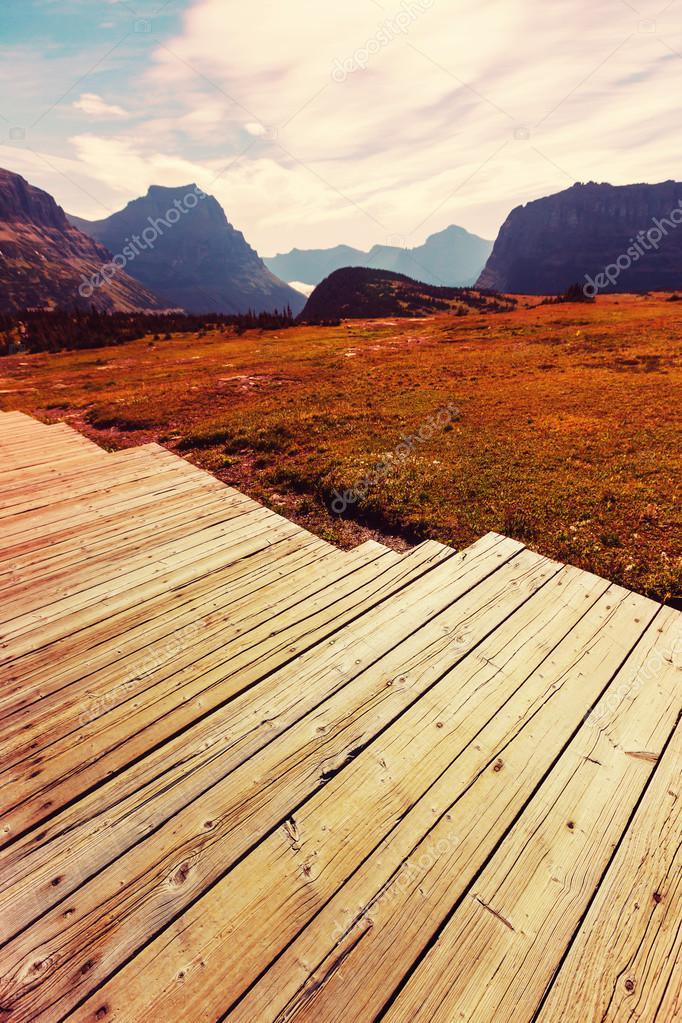 Glacier National Park, Montana, USA stock vector
