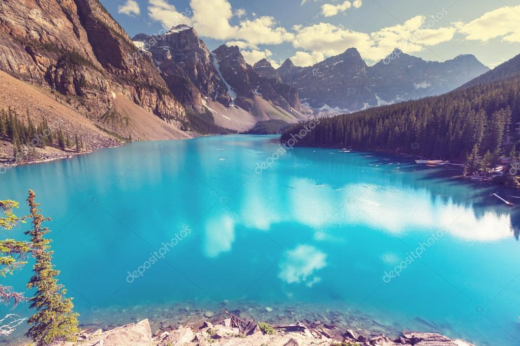 Beautiful Moraine lake in Canada