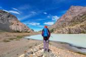 Fényképek Túrázó a hátizsák Patagónia-hegység