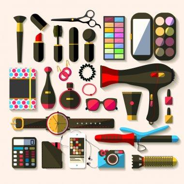 Ladies fashion icon - vector illustrations