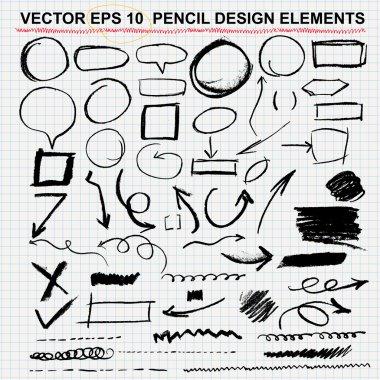 Hand drawn circles, vector design elements-eps 10