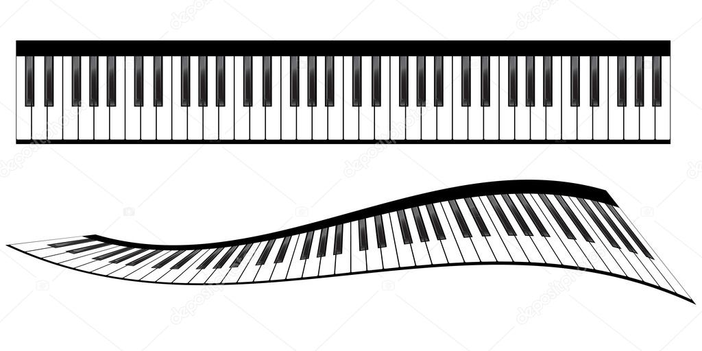 Piano Keyboards Vector Illustrations Various Angles And Views By Nataly Nete