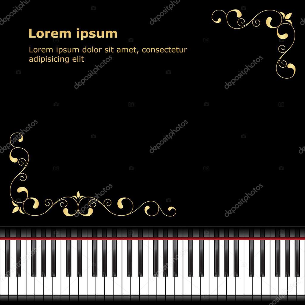 Plantilla de piano — Vector de stock © Nataly-Nete #57464387