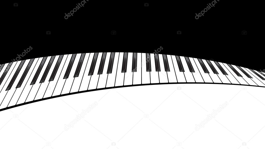 piano template stock vector nataly nete 86136388