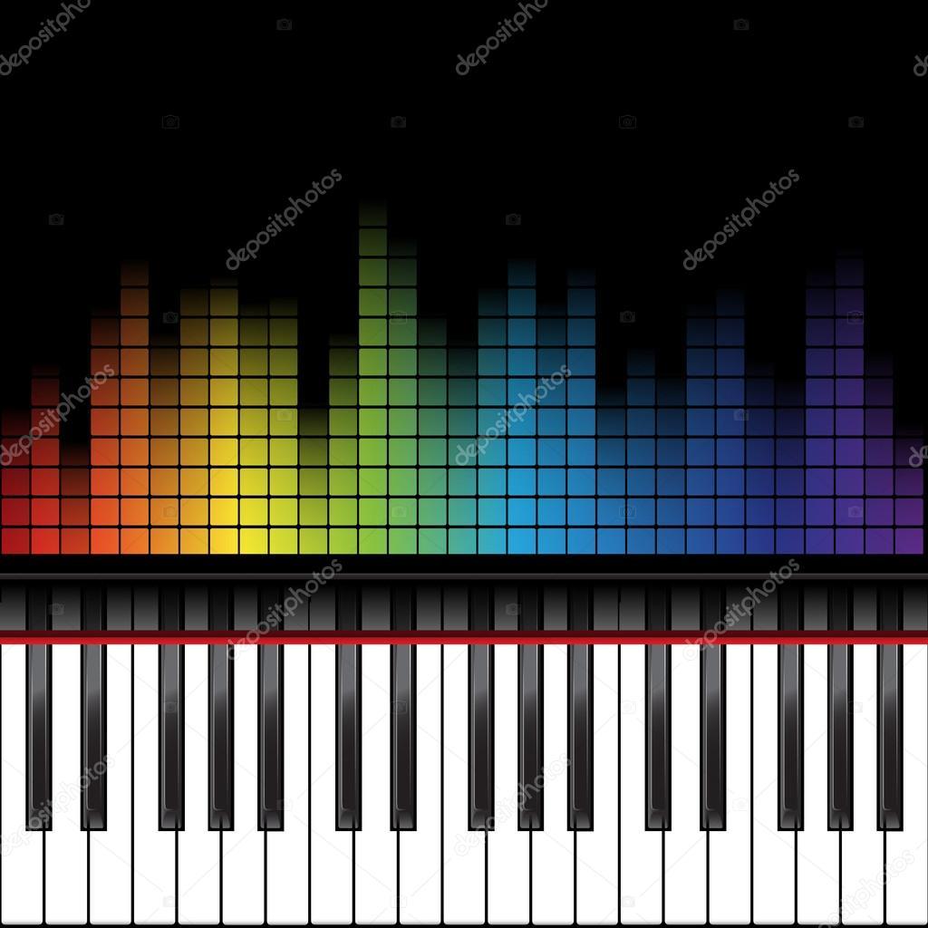 Peion Template | Piano Template Stockvektor C Nataly Nete 86136402