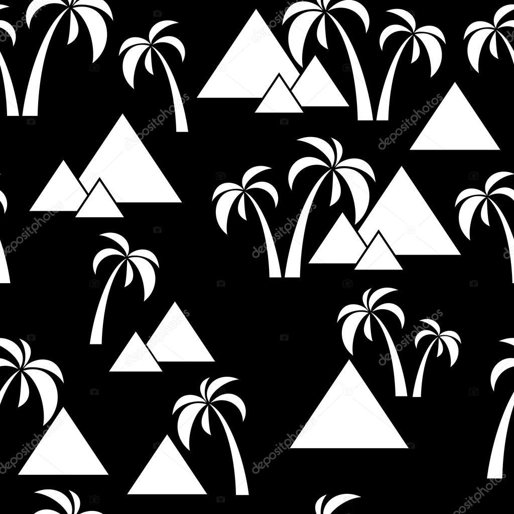 seamless palm pyramids