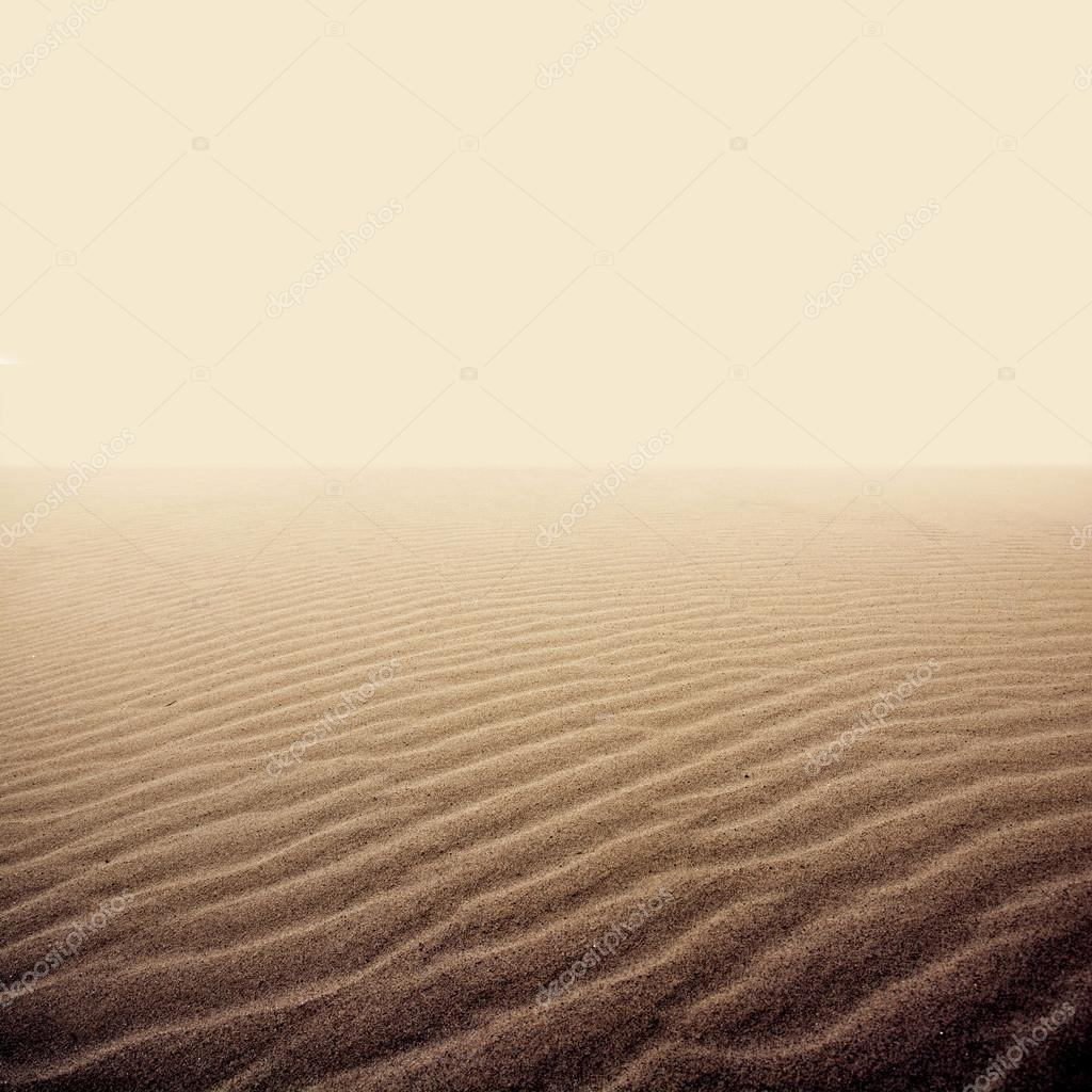 Sand on the dry desert.
