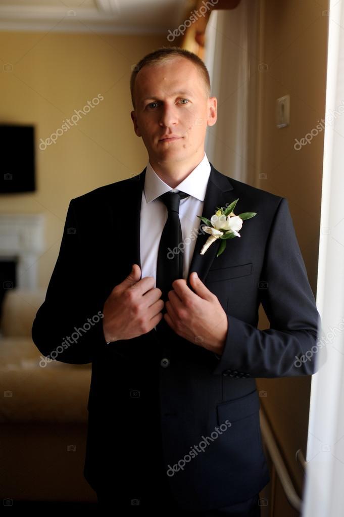 Handsome Groom At Wedding Coat Stock Photo Artman 109053370