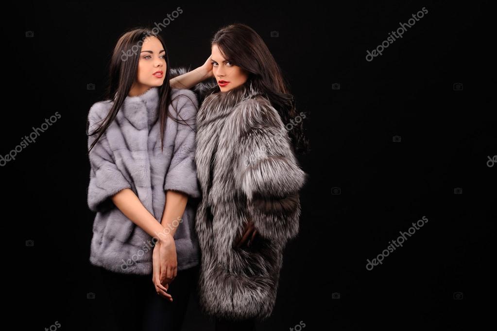 Abrigo vison azul