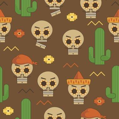 mexican skull pattern