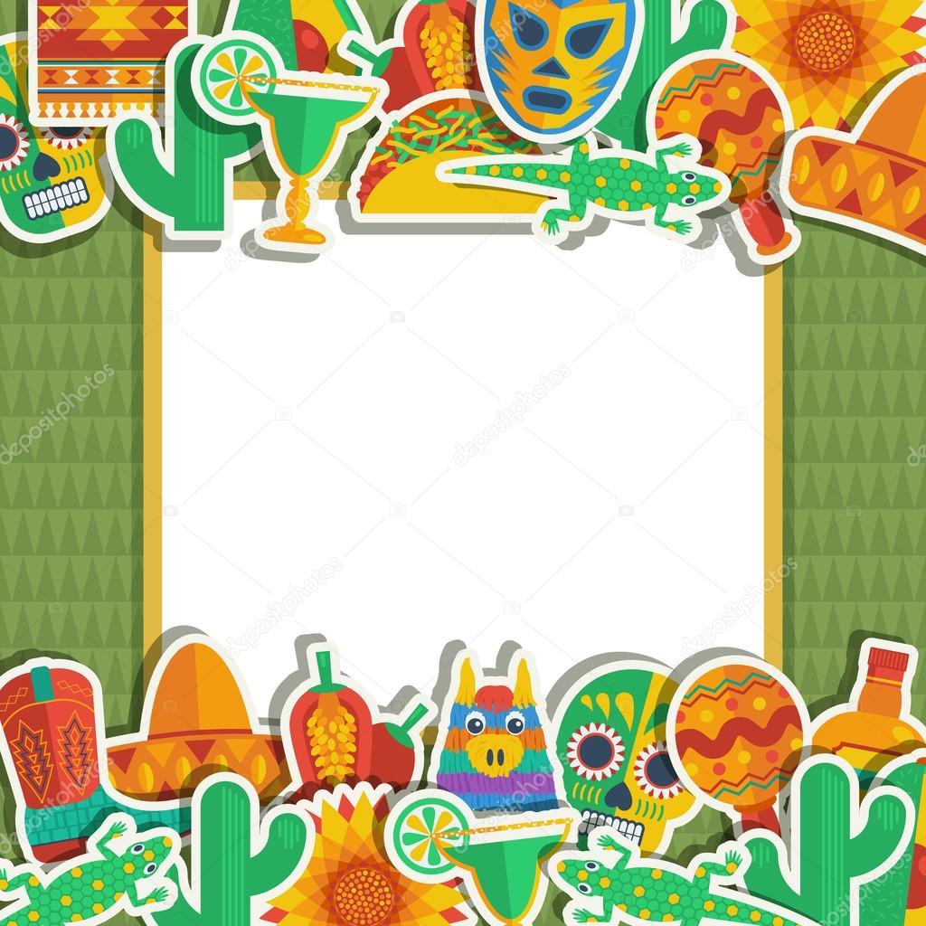 mexican frame — Stock Vector © mattasbestos #56240493