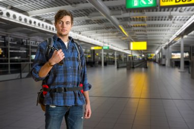 International traveler with a backpack