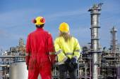 Two petrochemical engineers