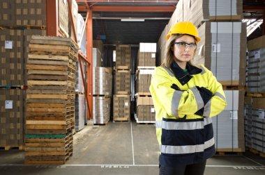 Female warehouse employee